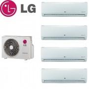 LG Climatizzatore Condizionatore Lg Quadri Split Inverter Standard 9+9+9+9 Con Mu4m25