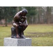 Statuie de bronz clasica Small thinker of Rodin
