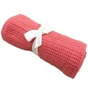 OhhGo Manta para bebé recién nacido, suave y cálida, de punto para dormir para niños y niñas, 27,6 x 35,4 pulgadas, Rojo sandía, Medium