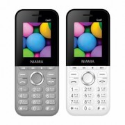 Niamia CAD 1 Basic Keypad Feature Mobile Phone Combo (Grey / White)