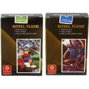 Parksons Cartamundi (Royal Flush) (Single Pack) - Pure Plastic Playing card for Fun / game / party - Pack of 2