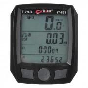 BOGEER YT-833B bicicleta impermeable Speed ??Meter - Negro