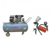 Pachet compresor de aer Stager HM-V-0.25/250 250L 8 BAR cu kit 4 accesorii compresor