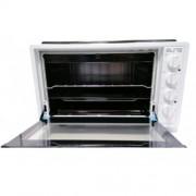 Готварска печка Elite EMO-1208, 42 л, 2 котлона, Двойно стъкло, Закрит долен нагревател