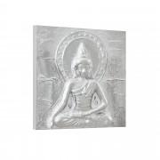 [art.work] Cuadro original para pared pintado a mano imagen Buda sobre lienzo bastidor incluido (30 x 30 x 2,8cm) Modelo 1