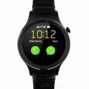 """Impermeable ronda dial MTK6260A BT V3.0 reloj inteligente w / 1.22"""" - negro"""