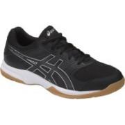 Asics GEL - ROCKET 8 - BLACK/BLACK/WHITE Badminton Shoes For Men(Black)
