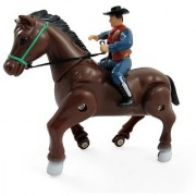 Wild West Galloping Horse and Cowboy/Cowgirl Rider - Battery Operated Western Cowboy Horse Riding Toy for Kids (Exact Unit May Vary)