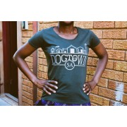 Ladies Silver DogtownSA T-shirt