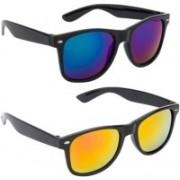 layd Wayfarer Sunglasses(Yellow, Blue)
