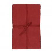 Dille&Kamille Nappe, coton bio, rouge foncé chiné, 145 x 300 cm