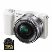 Sony Alpha A5100(ILCE-5100L/W) alb + SEL16-50mm E-Mount, 20.1MP,WiFi/NFC,FullHD RS125014193