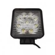 Proiector LED Auto Offroad 9 LEDuri 27W 12V/24V Patrat