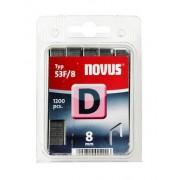 Novus tűzőkapcsok, lapos D 53F 8 mm 1200 db