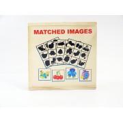 Puzzle din lemn potrivire imagine, varsta 3 ani+, multicolor