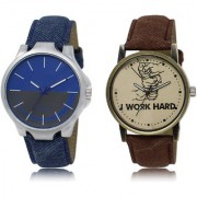 The Shopoholic Blue Grey Brown Combo Fashionable Fancy Collection Blue And Grey And Brown Dial Analog Watch For Boys Mens Stylish Watches