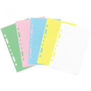 DEBDEN DK1022 DESK EDITION MULTICOLOURED NOTEPAD 7 RING 216MM X 140MM YELLOW/PINK/BLUE/WHITE