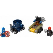 Set Constructie Lego Super Heroes Marvel Mighty Micros Captain America Vs. Red S