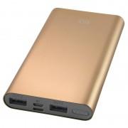 Ksix Powerlive Batería Externa Dorada 10000 MAh + Cable Micro-USB