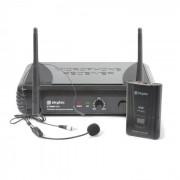 Skytec STWM711H Set micro-casque sans fil + récepteur + transmetteur VHF