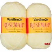 Vardhman Rosemary / Bluebell Cream 400 gm hand knitting Soft Acrylic yarn wool thread for Art & craft Crochet and needle