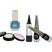 SET OF TWO EYE LINERS ONE KAJAL 1 NAIL PAINT AND 1 5IN1 COMPACT