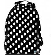 Sleevy laptop rugzak 15,6 Deluxe zwart met witte stippen