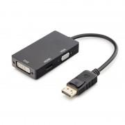 Unotec Adaptador DisplayPort para DVI-I/HDMI/VGA Preto