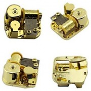 Gold Plating 18 Note Musical Movement---different Tunes Available (Tune is Over the Rainbow)