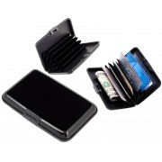 Portofel Elegant Unisex pentru Carduri sau Documente cu 6 Compartimente si Carcasa Solida