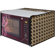 Glassiano Brown Printed Microwave Oven Cover for Samsung 28 Litre Convection Microwave Oven MC28H5025VB/TL Black