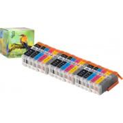 Ink Hero - 18 Pack met grijs - Inktcartridge / Alternatief voor de Canon CLI-551 PGI-550 PIXMA iP8750, MG6300, MG6350, MG7150, MG7550