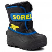 Cizme de zăpadă SOREL - Childrens Snow Commander NC1960 Black/Super Blue 011
