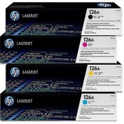 HP HP 126A Color CP1020 CP1025NW Toner E310A CE311A CE312A CE313A Cartridges Combo - 4 Pack (BCMY) Multi Color Toner(Black Magenta Yellow Cyan
