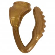 The Duke Cock and Ball Ring with Anal Plug -Gold