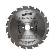 Disc fierastrau circular Wolfcraft Ø160x2,4x20 mm 20 dinti