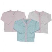 Krivi Kids Multi Color Set of 3 Front Open Full Sleeve Cotton Top For Baby Boys And Baby Girls .