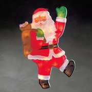 Santa Claus window picture with LEDs 20-bulb