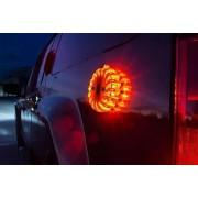 LED biztonsági villogó 9 az 1-ben tölthető