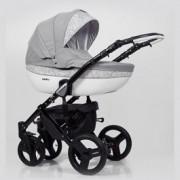 KUNERT Mila kolica za bebe - crni ram, set 3u1