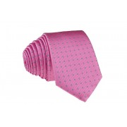 Pánská růžová puntikovaná slim kravata - 6 cm