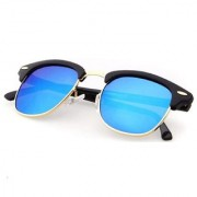 Ivonne UV Protected Blue mirrored clubmaster sunglasses
