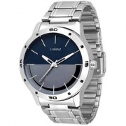 Lorenz Round Dail Silver Stainless Steel StrapMens Quartz Watch For Men