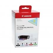 Printer Inktcartridges Canon CLI-8 Zwart en Kleur (5-Pack) (Origineel)