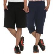 Vimal-Jonney Cotton Blended Multicolor Shorts And Capri Men (Pack Of 2)