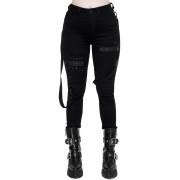 Pantaloni da donna KILLSTAR - Spiked - NERO - KSRA001730