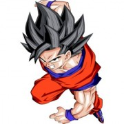 goku normal form sticker poster|dragon ball z poster|anime poster|size:12x18 inch|multicolor