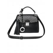 Emma & Kelly Handtasche, Damen, schwarz, mit abnehmbarem Emma & Kelly-Anhänger