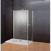 Schulte Home Paroi de douche fixe à l'italienne 90 x 100 x 30 cm, avec retours, Walk In Square III