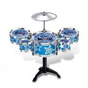 HATCHMATIC New Arrive 6pcs Drum Set Toys Jazz Drum Toys Musical Instrument for Kids Development Musical Talent Jazz Drums Musical: Blue